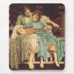 Vintage Victorian Art, Music Lesson by Leighton Mouse Pad