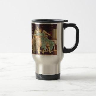 Vintage Victorian Art, Music Lesson by Leighton 15 Oz Stainless Steel Travel Mug