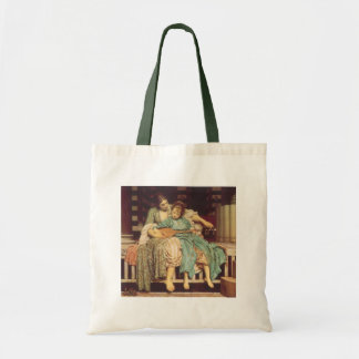 Vintage Victorian Art, Music Lesson by Leighton Tote Bag