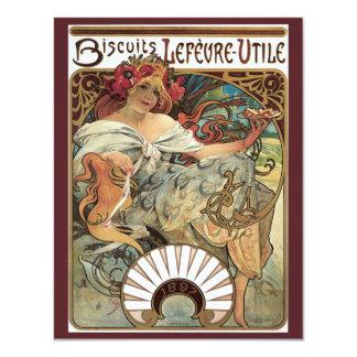 Vintage Victorian Art Nouveau by Alphonse Mucha Card