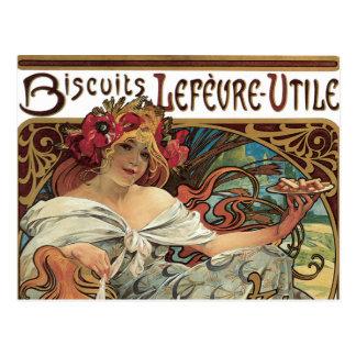 Vintage Victorian Art Nouveau by Alphonse Mucha Postcard