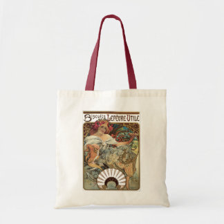 Vintage Victorian Art Nouveau by Alphonse Mucha Tote Bag