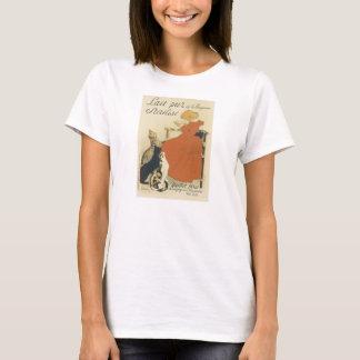 Vintage Victorian Art Nouveau, Girl with Milk Cats T-Shirt