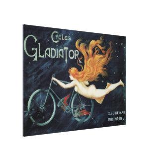 Vintage Victorian Art Nouveau, Gladiator Cycles Canvas Print