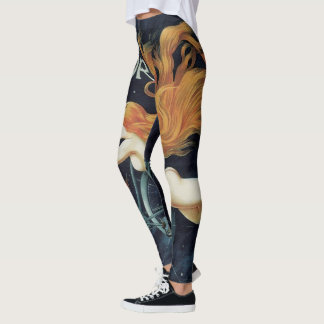 Vintage Victorian Art Nouveau, Gladiator Cycles Leggings