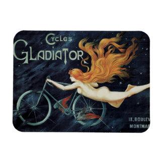 Vintage Victorian Art Nouveau, Gladiator Cycles Rectangular Photo Magnet