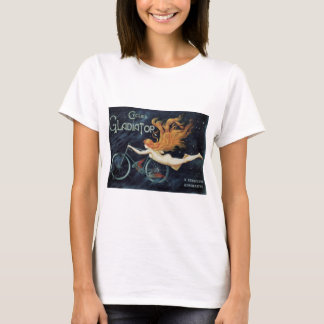 Vintage Victorian Art Nouveau, Gladiator Cycles T-Shirt
