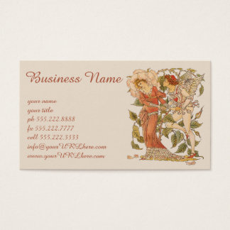 Vintage Victorian Art, Rose by Walter Crane Business Card
