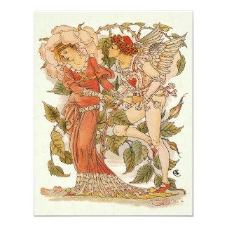 Vintage Victorian Art, Rose by Walter Crane Card