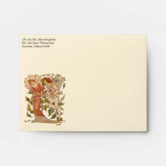 Vintage Victorian Art, Rose by Walter Crane Envelopes
