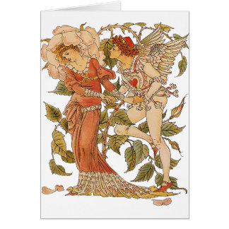 Vintage Victorian Art Rose Queen of the Garden Greeting Cards