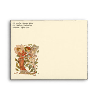 Vintage Victorian Art, Rose; Queen of the Garden Envelope