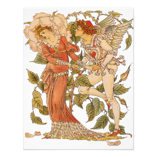 Vintage Victorian Art Rose Queen of the Garden Custom Invite