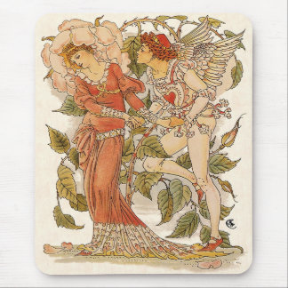 Vintage Victorian Art, Rose; Queen of the Garden Mouse Pad