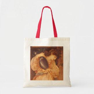 Vintage Victorian Art, Temperantia by Burne Jones Budget Tote Bag