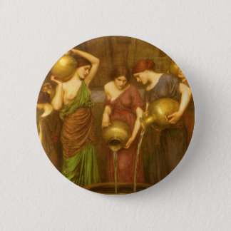 Vintage Victorian Art, The Danaides by Waterhouse Button