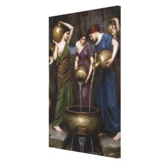 Vintage Victorian Art, The Danaides by Waterhouse Canvas Print