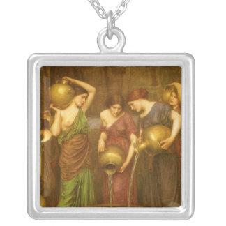 Vintage Victorian Art, The Danaides by Waterhouse Square Pendant Necklace