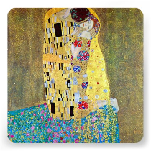 Vintage Victorian Art, The Kiss, Bridal Shower Invite