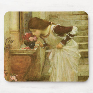 Vintage Victorian Art, The Shrine by JW Waterhouse Mouse Pad