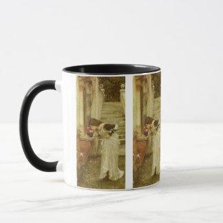 Vintage Victorian Art, The Shrine by JW Waterhouse Mug