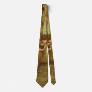 Vintage Victorian Art, The Shrine by JW Waterhouse Neck Tie