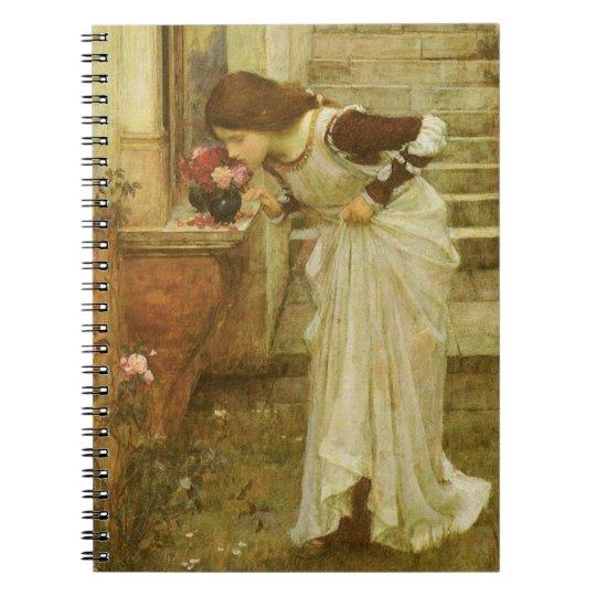 Vintage Victorian Art, The Shrine by JW Waterhouse Notebook