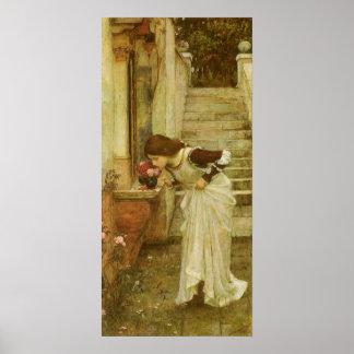 Vintage Victorian Art, The Shrine by JW Waterhouse Poster