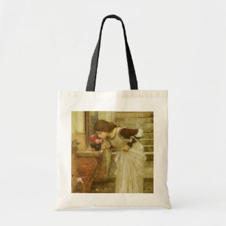 Vintage Victorian Art, The Shrine by JW Waterhouse Tote Bag