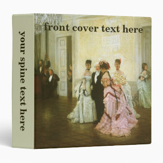 Vintage Victorian Art, Too Early by James Tissot 3 Ring Binder
