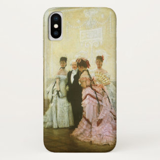 Vintage Victorian Art, Too Early by James Tissot iPhone X Case