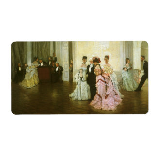 Vintage Victorian Art, Too Early by James Tissot Shipping Label