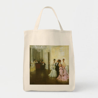 Vintage Victorian Art, Too Early by James Tissot Tote Bag