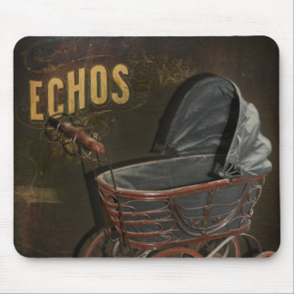 Vintage Victorian Baby Buggy Carriage Mouse Pad