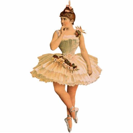 Vintage Victorian Ballerina Ornament Photo Sculpture Ornament