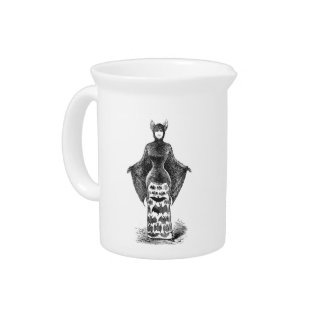 Vintage victorian bat woman beverage pitcher