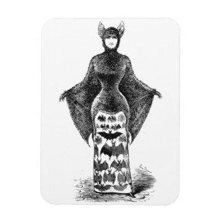 Vintage victorian bat woman magnet
