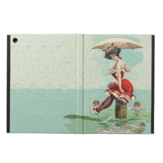 Vintage Victorian Bathing Beauty Lady Ocean Case For iPad Air