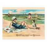 Vintage Victorian Beach Postcard