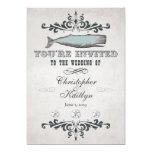 "Vintage Victorian Beach Whale Wedding Invitations 5"" X 7"" Invitation Card"
