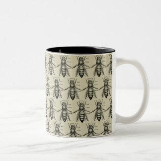 Vintage Victorian Bee Illustration Pattern Mug