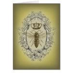 Vintage Victorian Bee Queen  crown Fashion Card