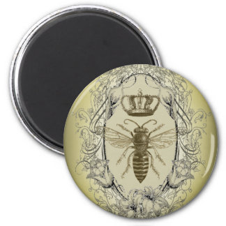 Vintage Victorian Bee Queen  crown Fashion Magnet