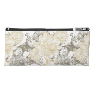 Vintage Victorian Beige floral vines pattern Pencil Case