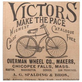 Vintage Victorian Bicycle Advertisement Cloth Napkins