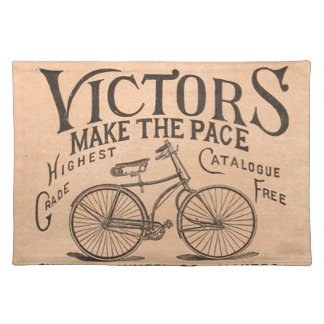 Vintage Victorian Bicycle Advertisement Placemats