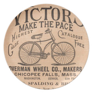 Vintage Victorian Bicycle Advertisement Dinner Plate