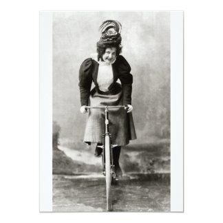 Vintage Victorian Bicycle Ride Card