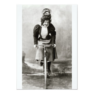 Vintage Victorian Bicycle Ride Custom Invitations