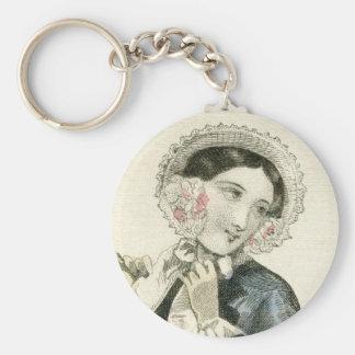 Vintage Victorian Bonnet Antique Fashion Keychain